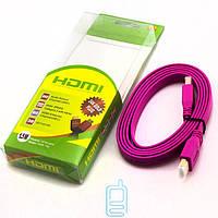 Кабель HDMI-HDMI 1.5 метра v1.4 M/M розовый