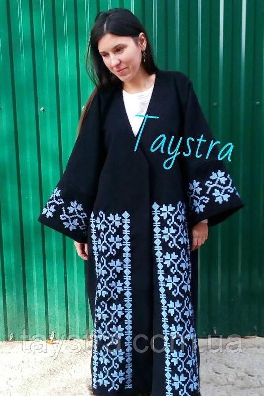 Пальто с вышивкой женское
