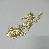 Роза декоративная покрашенная металлизированная