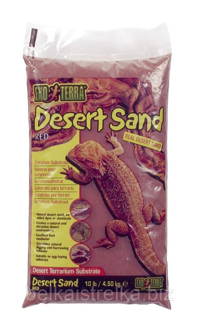 """Песок красный для рептилий, Desert Sand Red 4.5 кг. - Интернет-магазин """"Belka i strelka"""" в Харькове"""