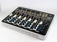 Аудио микшер Mixer BT-7000 4ch., звуковой микшер, активный микшерный пульт, музыкальный аудиомикшер