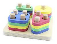 """Деревянная игрушка Логический квадрат в картонной коробке ТМ """"Игрушки из дерева"""" Д020"""