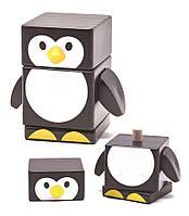 """Деревянная пирамидка """"Пингвин"""" для детей от 1 года (Размер: 8.7 x 5.3 x 8.5 см) ТМ """"Бомик"""" 809"""