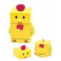 """Деревянная пирамидка """"Цыпленок"""" для детей от 1 года (Размер: 7.5 x 5.5 x 8.6 см) ТМ """"Бомик"""" 808"""