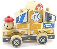 """Деревянная развивающая игрушка Автомобиль-конструктор №3 для детей от 1 года ТМ """"Игрушки из дерева"""" Д061"""