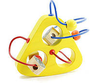 """Деревянная развивающая игрушка Пальчиковый лабиринт """"Мышки в сыре"""" (Размер: 16 x 9 x 15 см) ТМ """"Игрушки из дерева"""" Д229"""