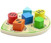 """Деревянная развивающая игрушка Сортер """"Жучок"""" для детей с 1 года (размер 24 x 5.5 x 17 см) ТМ """"Игрушки из дерева"""" Д409, фото 1"""