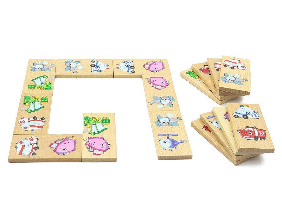 """Дерев'яне доміно """"Транспорт"""" для дітей від 2 років ТМ """"Іграшки з дерева"""" Д393"""