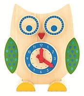"""Деревянная Сова 2 в 1: часы и счеты для детей с 4 лет (Размер: 23.5 x 9 x 26.5 см) ТМ """"Игрушки из дерева"""" Д391"""