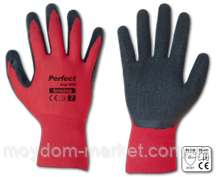 Перчатки Bradas Perfect Grip RED черв/чорн. латекс р.10 / RWPGRD10