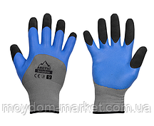 Перчатки ARCTIC сірий/синьо-чорний латекс р.10 / RWA10 Bradas