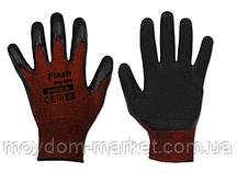 Перчатки FLASH GRIP RED бордо/чорний латекс р.10 / RWFGRD10 Bradas