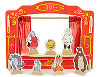 """Деревянный развивающий набор """"Кукольный театр"""" в картонной коробке (Размер: 42 x 6 x 42 см) ТМ """"Игрушки из дерева"""" Д170"""