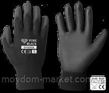 Перчатки Bradas PURE BLACK чорн/чорн. ПУ р.9 / RWPBC9 Bradas