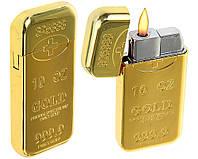 Зажигалка слиток золота 4438 турбо пламя