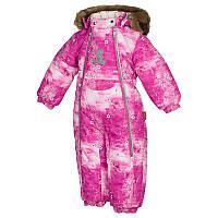 Зимний термокомбинезон LOTUS для девочки 3-6 мес. 2- 3 лет р. 62, 68, 92, 98 ТМ HUPPA 36260030-71363