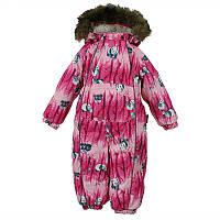 Зимний термокомбинезон REGGIE 1 для девочки 1-3 лет размеры 80, 92, 98 ТМ HUPPA 36020130-72363