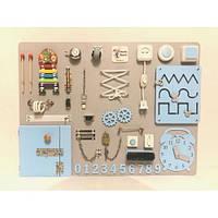Настольная игра бизиборд Woody Board 1-27 blue  60 х 80 см