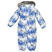 Зимний термокомбинезон REGGIE 1 для мальчика 3, 6, 24, 36 мес. р. 62, 68, 92, 98 ТМ HUPPA Голубой 36020130-72335