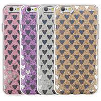 """Cияющий TPU чехол с сердечками для Apple iPhone 6/6s (4.7"""")"""