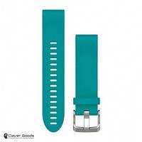 Ремешок Garmin Ремешок для Fenix 5s 20mm QuickFit Turquoise Silicone Band (010-12491-11)