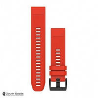 Ремешок Garmin Ремешок для Fenix 5 22mm QuickFit Flame Red Silicone Band (010-12496-03)