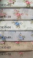Шторы, хлопок, Мелкая роза 3833. Компаньоны штора и гардина. Высота 2.80 м