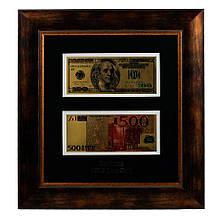 Панно USA + Euro в деревянной раме Арт. НВ-057 601818