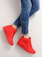 02-12 Красные женские кроссовки с кубиками b3701 40