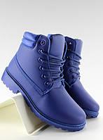 03-21 Синие женские ботинки в стиле Тимберленд bl62 38,37