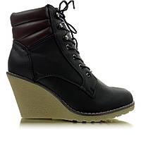 12-15 Черные женские ботинки двухцветные HP124C 40