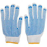 Перчатки белые в синюю точку 7001 (арт.7001)