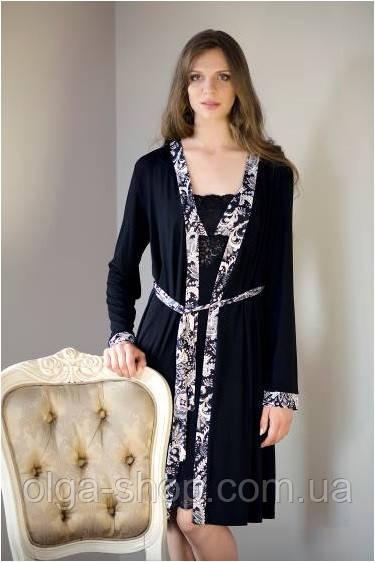 Халат женский Shato - 512/1 (женская одежда для сна, дома и отдыха, домашняя одежда, ночная)