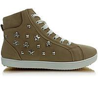 11-15 Хаки женские ботинки с шипами 6016 39,38,37