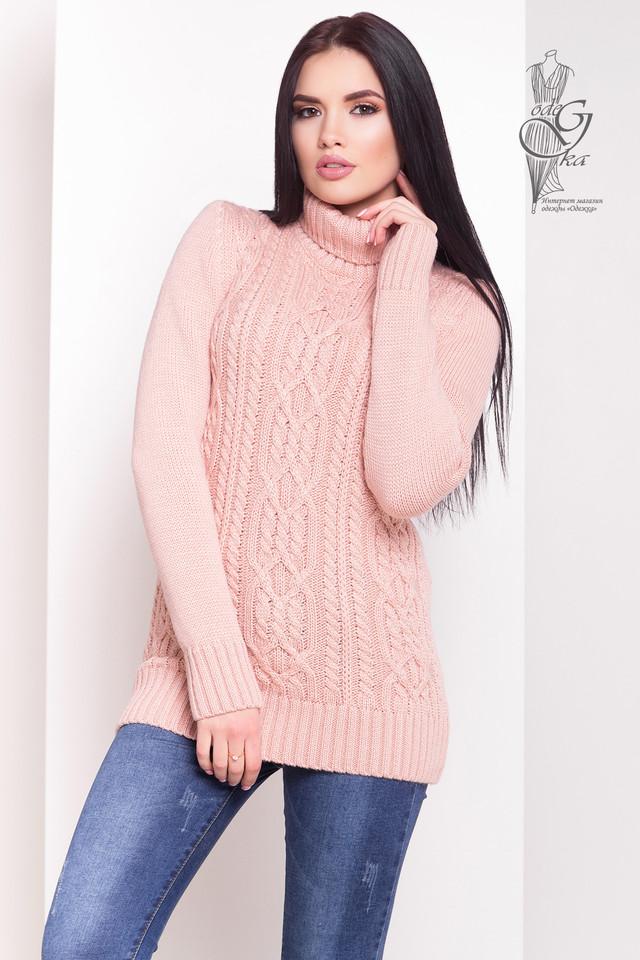 Цвет пудра Женских зимних свитеров теплых Дара