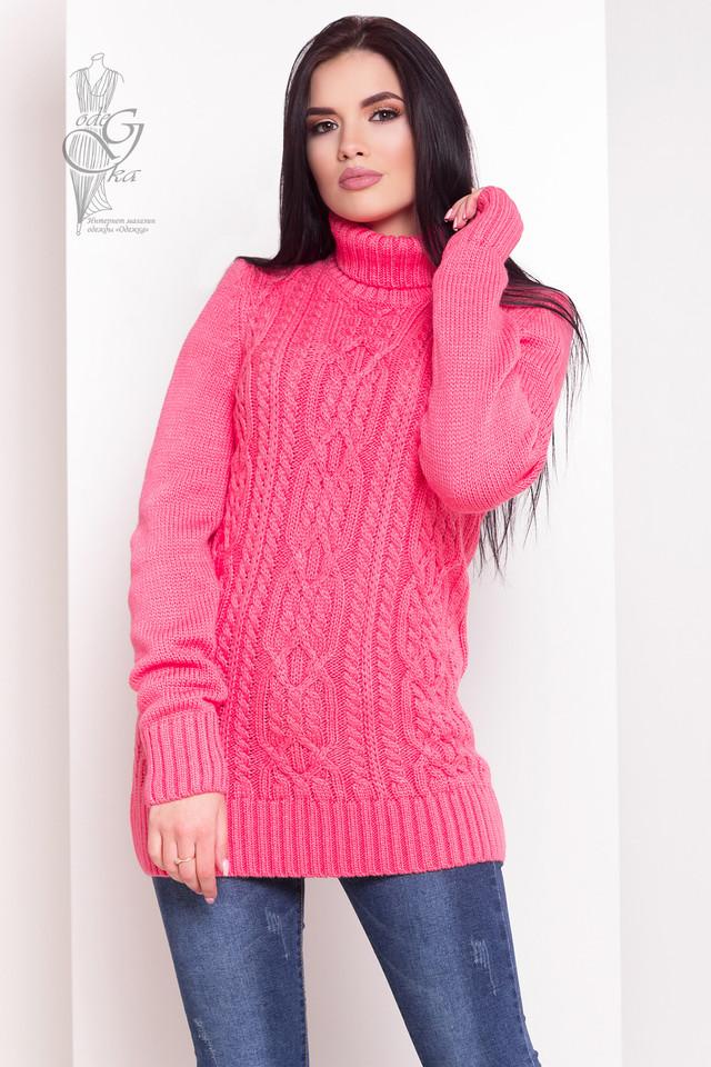 Малиновый цвет Женского зимнего свитера теплого Дара