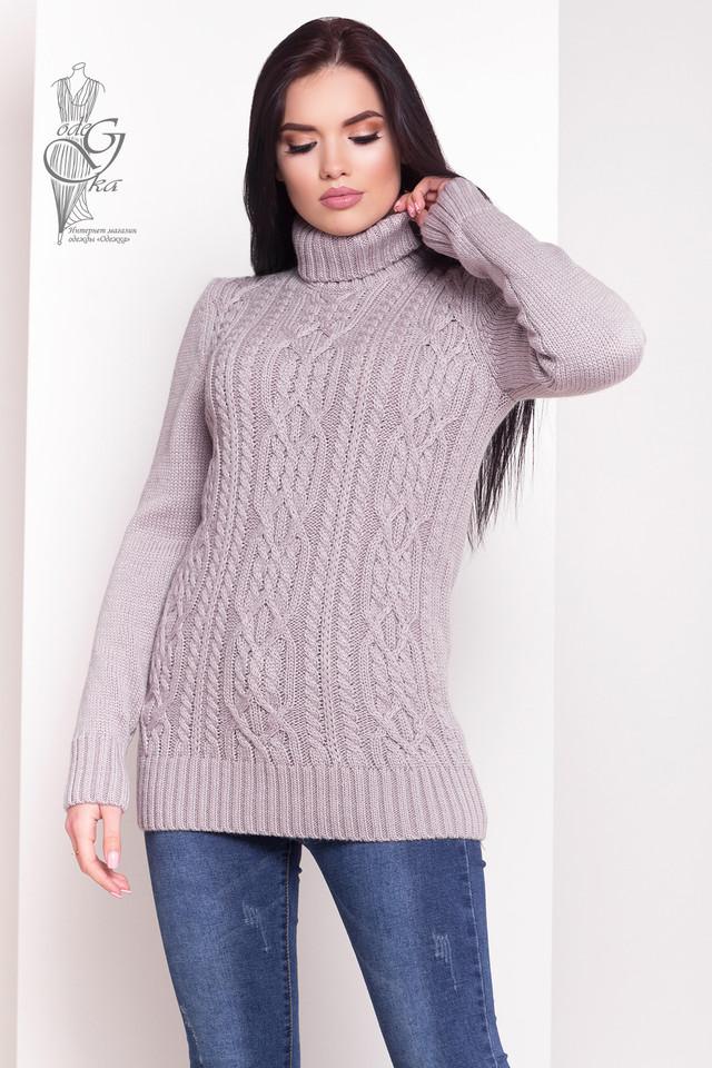 Цвет Фрез Женского зимнего свитера теплого Дара