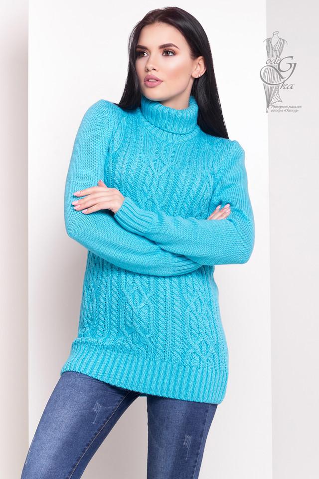 Фото Женского зимнего свитера теплого Дара