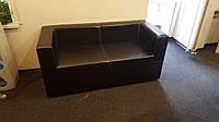 Мягкая мебель в офис (Черный заменитель кожи)