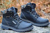 Ботинки зимние кожа Vitex черные мужские Харьков 2016 (Код: 248)