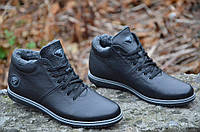 Зимние мужские ботинки полуботинки кроссовки кожа черные Харьков 2016 (Код: 256), фото 1