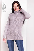 Женский зимний свитер теплый Дара-3 под горло Шерсть-Акрил