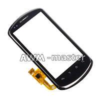 Сенсорное стекло Huawei U8800,U8801 на корпусной рамке. черное