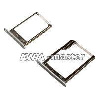 Держатель сим карты Samsung A5 белый (SIM + Micro SD)