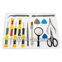 Набор инструментов Yaxun YA-821C Отвёртки:T5,T6,+1.2,+1.5,*0,8, 3 медиатора, 2 пинцета, кусачки, ножницы, лупа