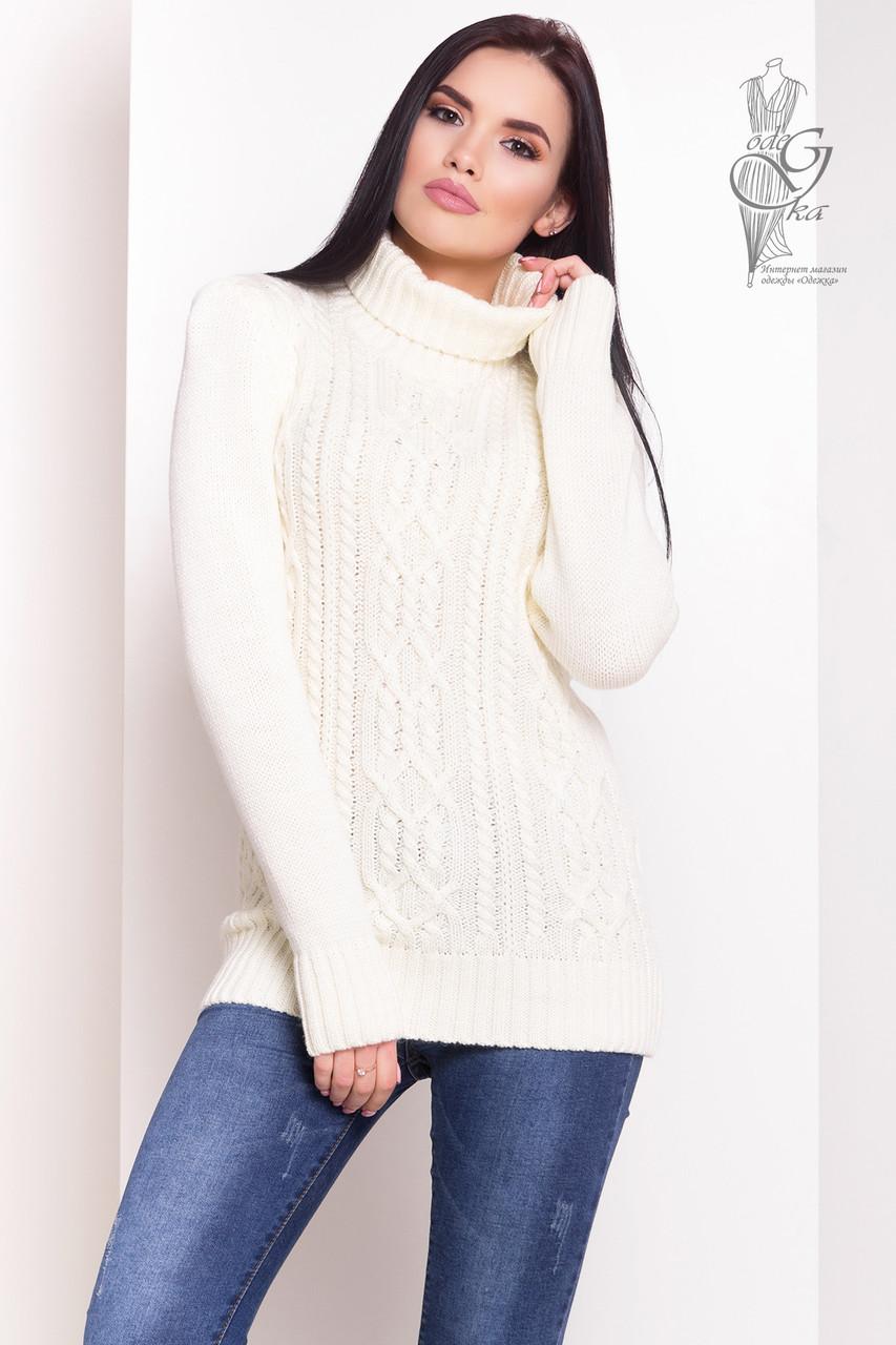 Женский зимний свитер теплый Дара-6 под горло Шерсть-Акрил