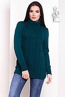 Женский зимний свитер теплый Дара-8 под горло Шерсть-Акрил