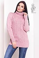 Женский зимний свитер теплый Дара-9 под горло Шерсть-Акрил