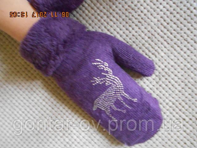 Жіночі теплі рукавиці Олені