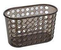 Полочка для ванной комнаты на присосках Arino Aqua 19х9,5х12 см серая